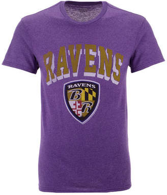 Authentic Nfl Apparel Men Baltimore Ravens Shadow Arch Retro T-Shirt