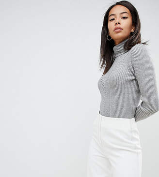 8861d3080d Fashion Union Tall High Neck Sweater In Textured Knit