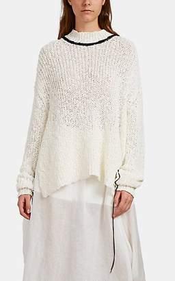 Jil Sander Women's Chunky Rib-Knit Cotton-Blend Sweater - White