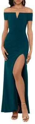 Xscape Evenings Off-the-Shoulder Gown