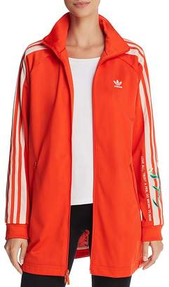 adidas Embroidered Long Track Jacket