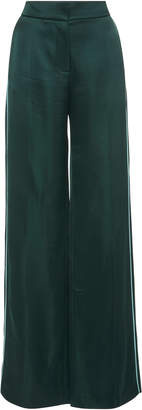 Peter Pilotto Satin-Twill Wide-Leg Pants