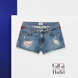 Tommy Hilfiger Destroyed Denim Shorts Gigi Hadid