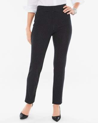 Chico's Chicos Ponte Dot Tapered Ankle Pants