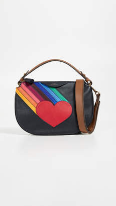 Anya Hindmarch Rainbow Heart Crossbody Bag