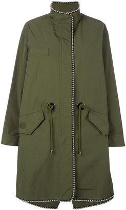 beaded raincoat