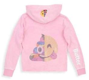 Butter Shoes Girl's Mineral Wash Lattice Hoodie