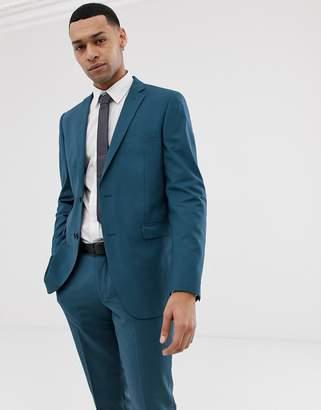 Esprit slim fit suit jacket in blue