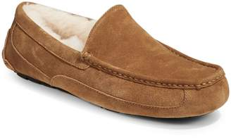 UGG Ascot Suede Faux-Shearling Moccasins