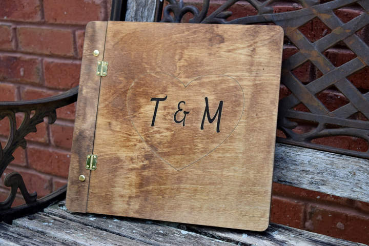 Etsy Rustic Wedding Guest Book - Wood Guest Book - Engraved Guest Book - Wedding Guest Book - Wood Weddin