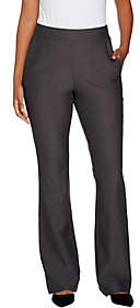 Lisa Rinna Collection Pull On Boot Cut Pantswith Pockets