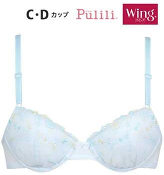 Christian Dior (クリスチャン ディオール) - Pulili Pulili/(W)ウイング 3/4カップブラジャー学校生活を応援するブラ(C・Dカップ ウイング インナー/ナイトウェア