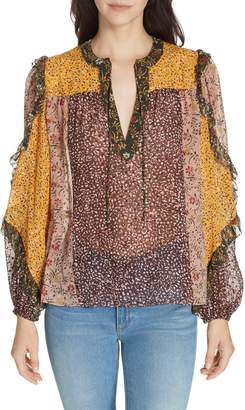 Ulla Johnson Norma Floral Print Silk Blend Blouse