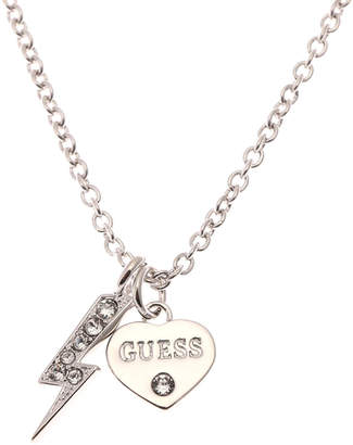 GUESS (ゲス) - ゲス GUESS THUNDER HEART NECKLACE (SILVER)