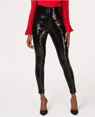 INC International Concepts I.n.c. Sequined Skinny Ankle Pants