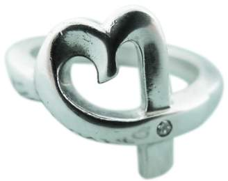 Tiffany & Co. 925 Sterling Silver Paloma Picasso Loving Heart Diamond Ring Size 6