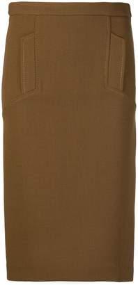 P.A.R.O.S.H. high-waisted pencil skirt