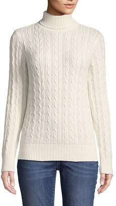 ST. JOHN'S BAY Long Sleeve Turtleneck Sweater - Tall