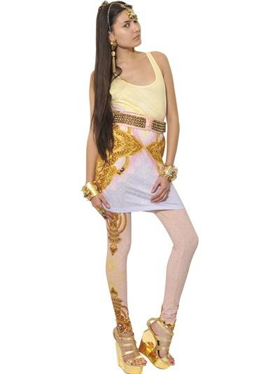 Manish Arora Printed Rayon Jersey Leggings