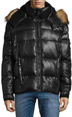 S13/Nyc S 13/NYC Men's Quilted Faux Fur Puffer Jacket