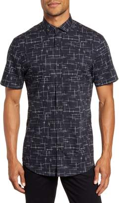 Calibrate Short Sleeve Button-Up Shirt