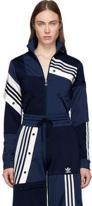 adidas By Danielle Cathari by Danielle Cathari Blue Deconstructed Track Jacket