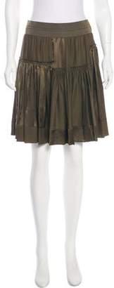 Donna Karan Silk A-Line Skirt