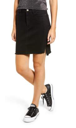 Tinsel Tuxedo Stripe Denim Skirt