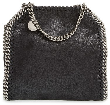 Stella Mccartney 'Tiny Falabella' Faux Leather Crossbody Bag - Black