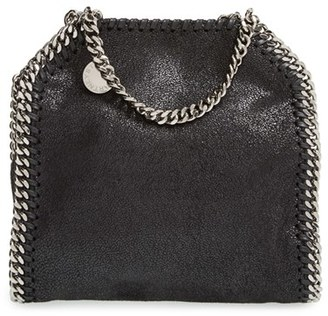 Stella Mccartney 'Tiny Falabella' Faux Leather Crossbody Bag - Black $695 thestylecure.com