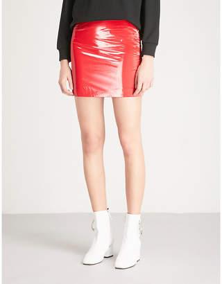 Mo&Co. Mid-rise PVC skirt