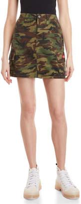 Dickies Camo Denim Mini Skirt