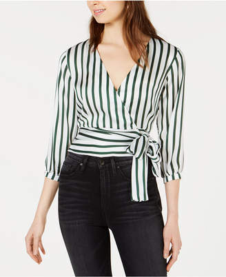 Project 28 Nyc Striped Wrap Top