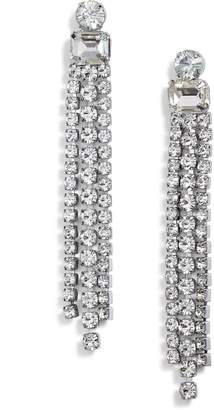 Kate Spade Slice Of Stone Crystal Fringe Earrings