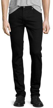 Nudie Thin Finn Dry Cold Black Denim Jeans, Black $185 thestylecure.com