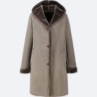 Uniqlo Women's Faux Shearling Hooded Coat