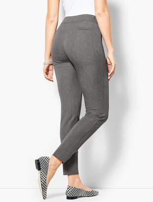 Talbots Cotton Bi-Stretch Pull-On Skinny Ankle Pant - Curvy Fit/Charcoal