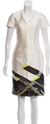 J. Mendel Silk Short Sleeve Dress Silk Short Sleeve Dress
