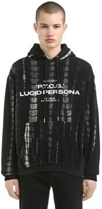 Lsd Tie Dye Hooded Cotton Sweatshirt