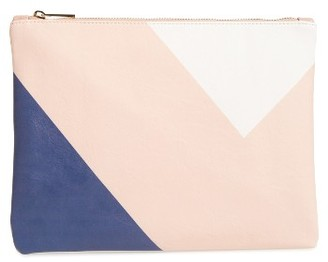 Bp. Graphic Zip Pouch - Pink $25 thestylecure.com