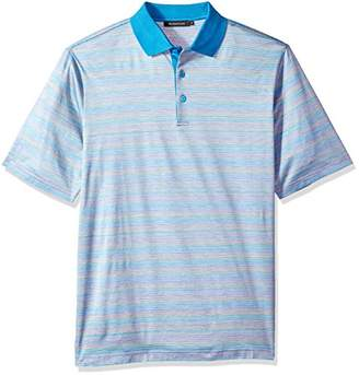 Bugatchi Men's Fitted Mercerized Cotton Striped Polo Shirt