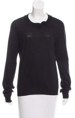 Rochas Scoop Neck Knit Sweater