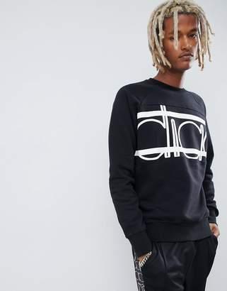 Diadora sweatshirt with Spectra bold logo in black