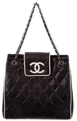 Chanel Quilted CC Shopping Tote