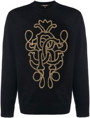 Roberto Cavalli braid logo sweatshirt