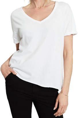Frank And Eileen Solid Deep V-Neck Short-Sleeve Tee