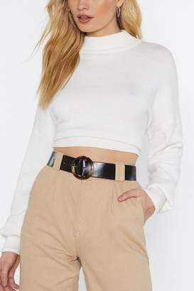 Nasty Gal You Spin Me Round Patent Faux Leather Belt