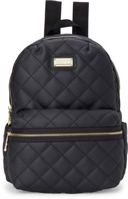 Madden-Girl Faux Leather Quilted Backpack