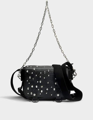 Zadig & Voltaire Readymade Studded XS Bag in Black Cow Leather