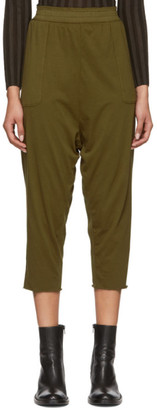 Raquel Allegra Green Sueded Baby Jersey Lounge Pants